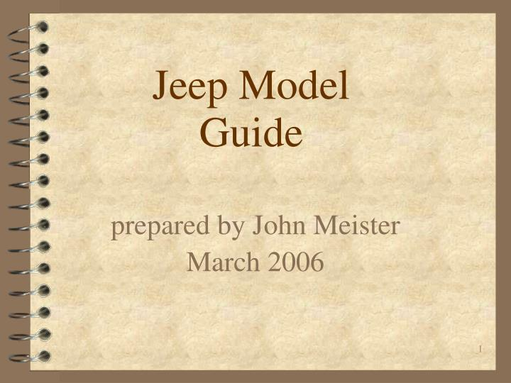 Prepared by john meister march 2006