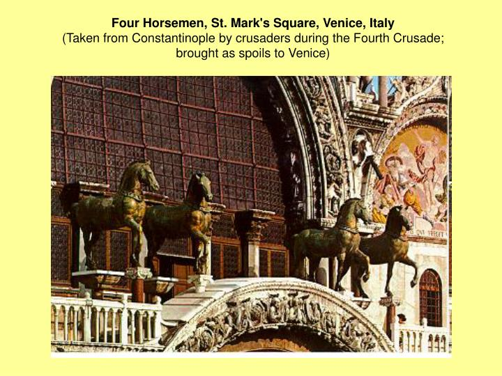 Four Horsemen, St. Mark's Square, Venice, Italy