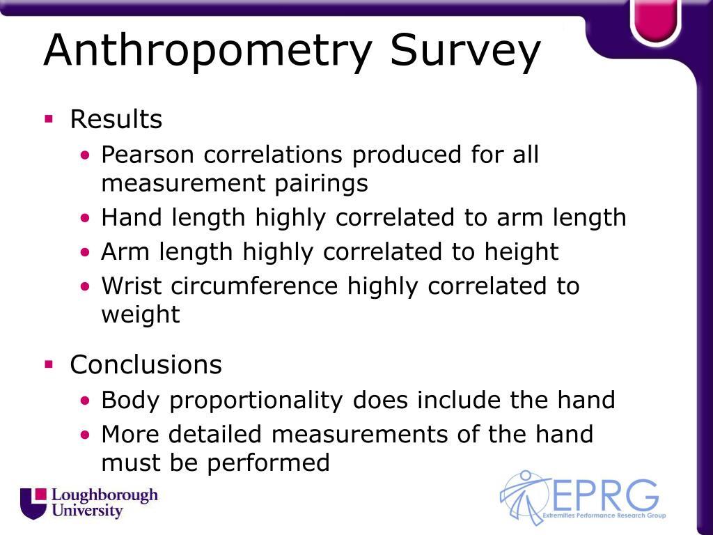 Anthropometry Survey