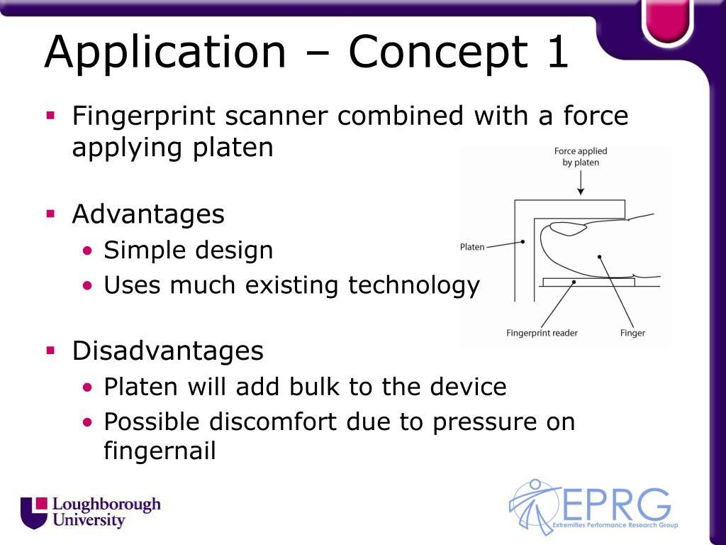 Application – Concept 1
