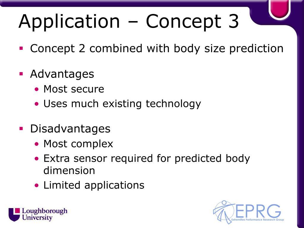 Application – Concept 3