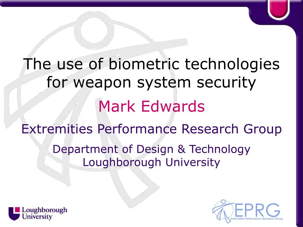 The use of biometric technologies for weapon system security