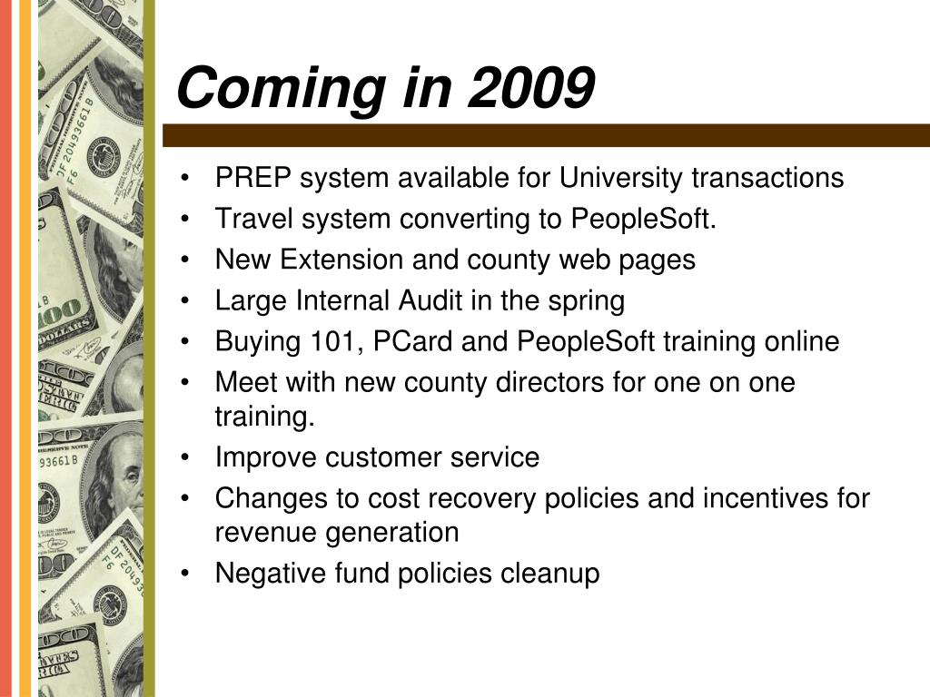 PREP system available for University transactions