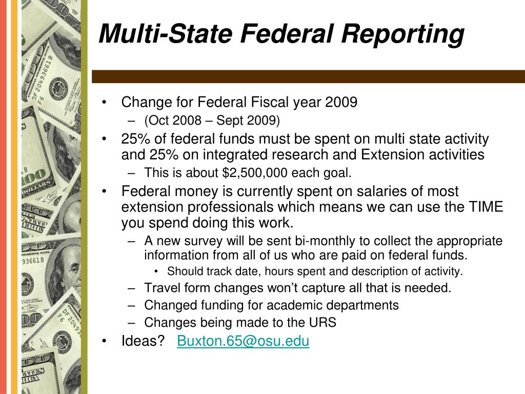Change for Federal Fiscal year 2009