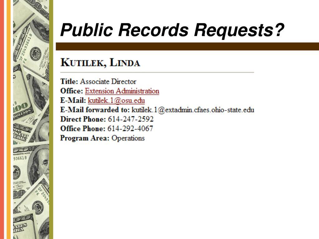 Public Records Requests?