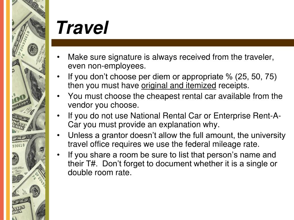 Make sure signature is always received from the traveler, even non-employees.