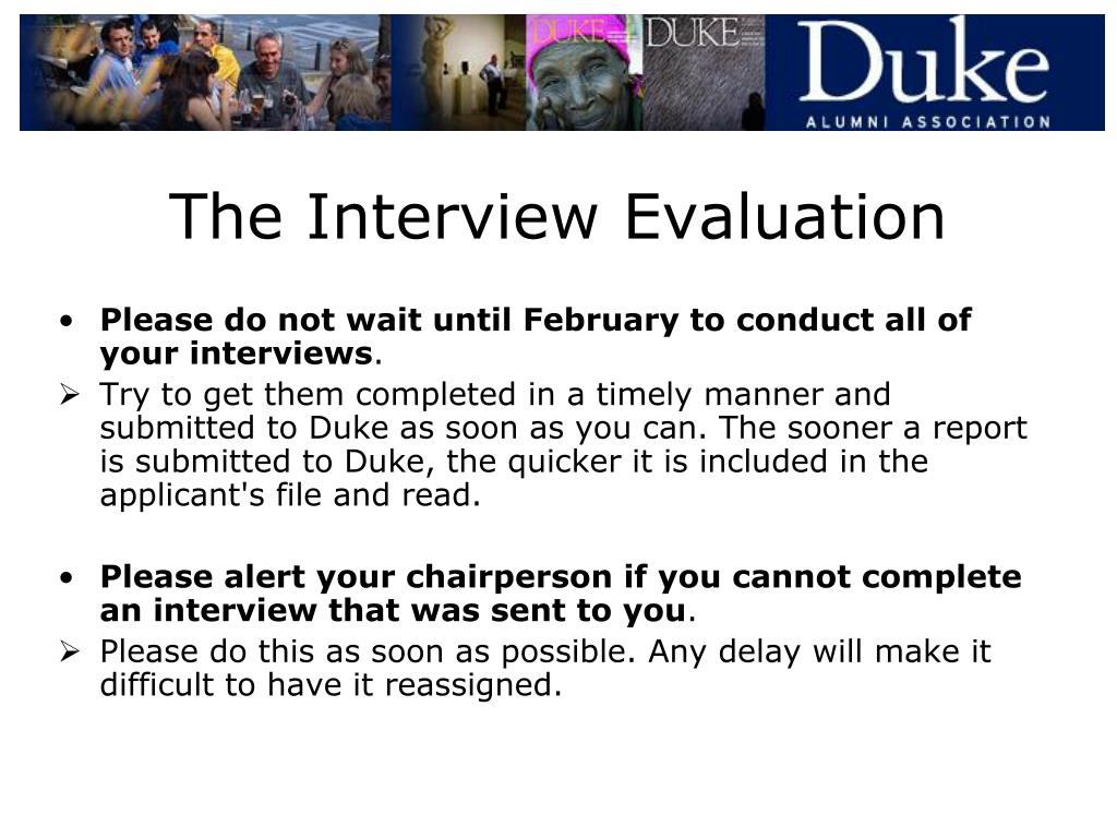 The Interview Evaluation