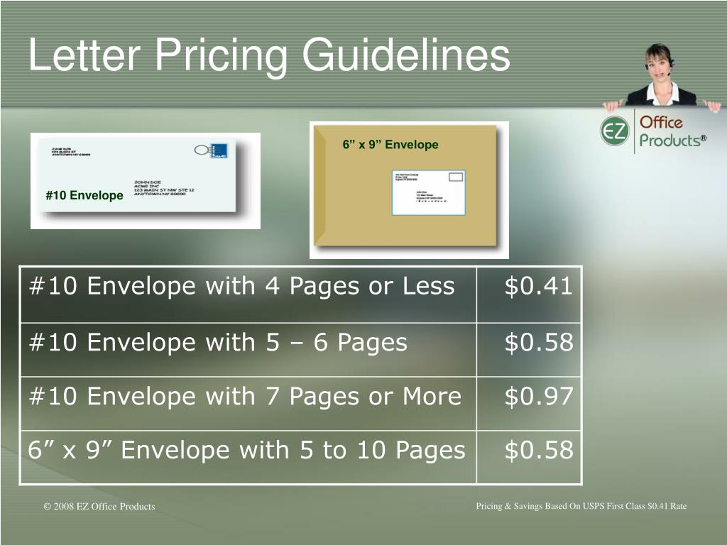Letter Pricing Guidelines