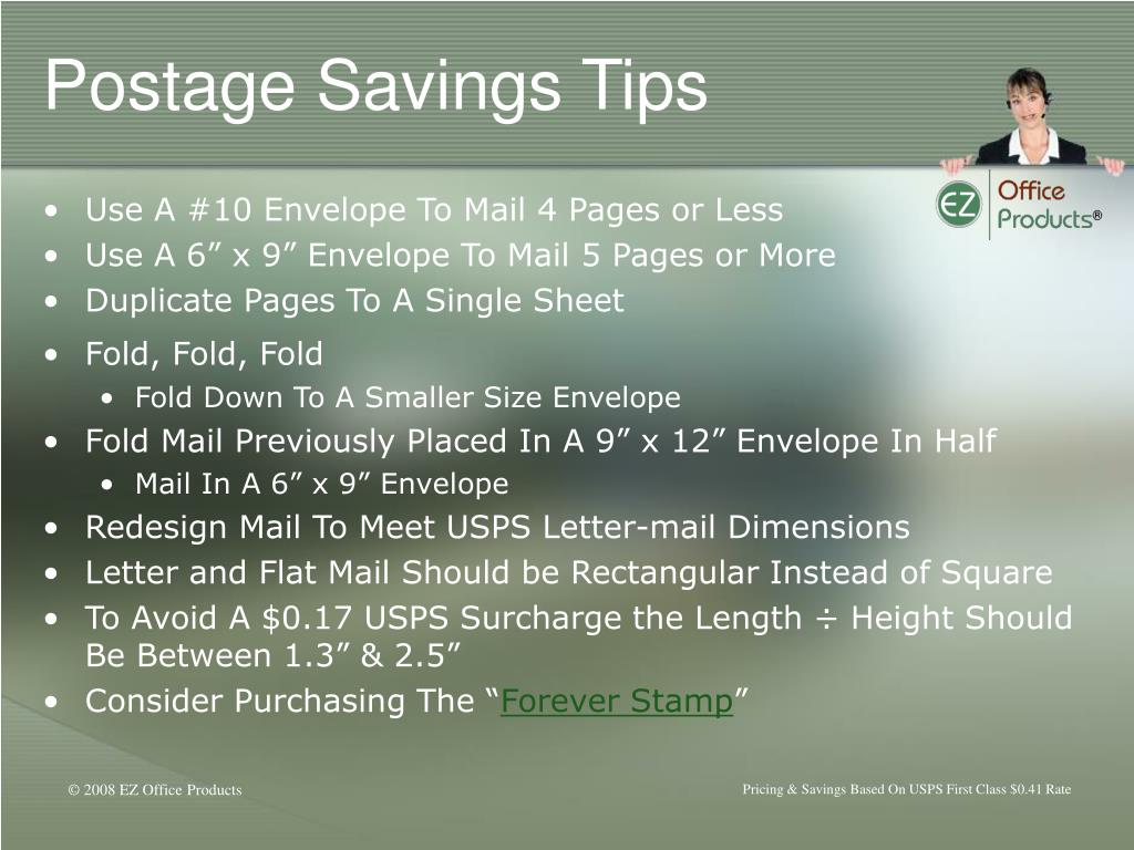 Postage Savings Tips