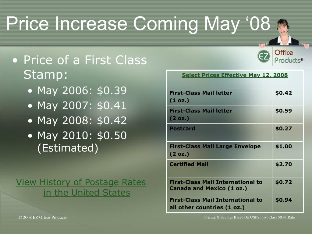 Price Increase Coming May '08