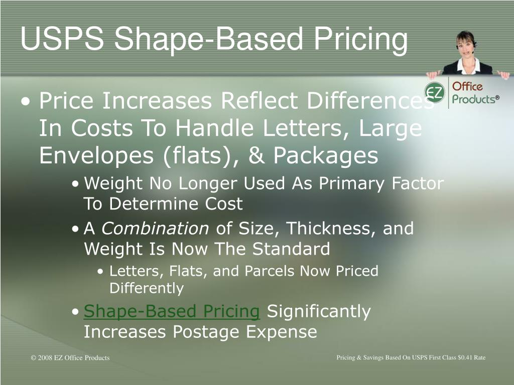 USPS Shape-Based Pricing