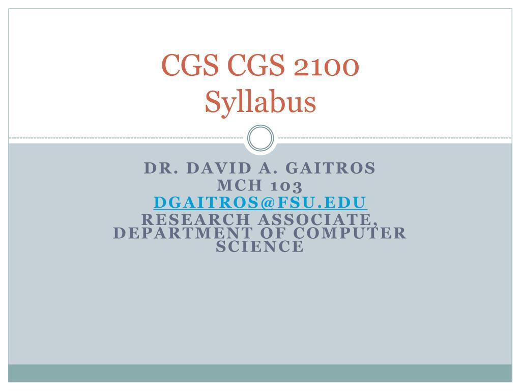 CGS CGS 2100
