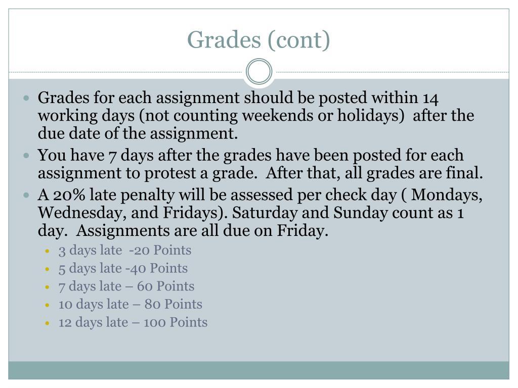 Grades (cont)