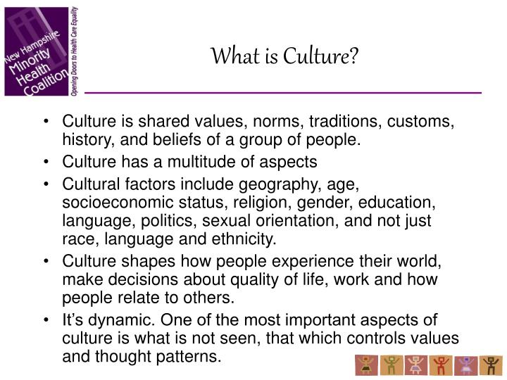 on a personal experience of cultural