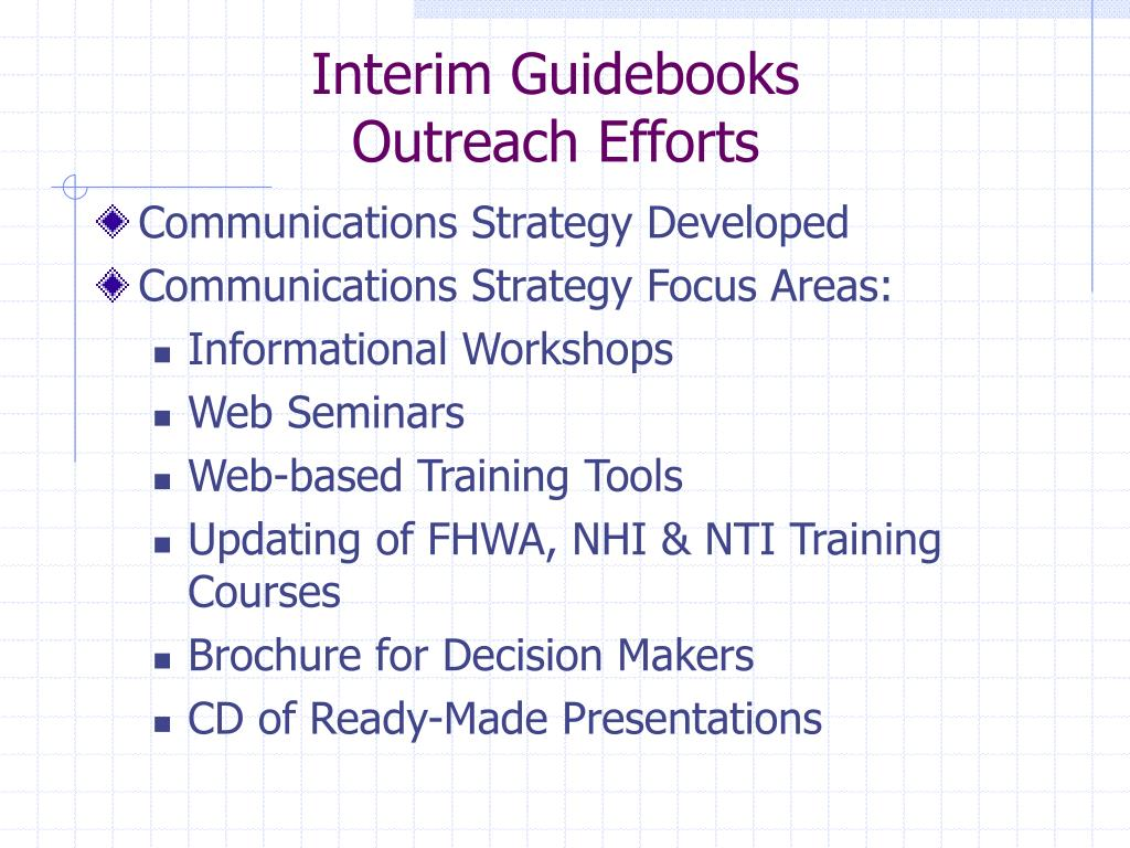 Interim Guidebooks