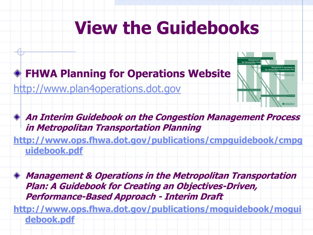 View the Guidebooks