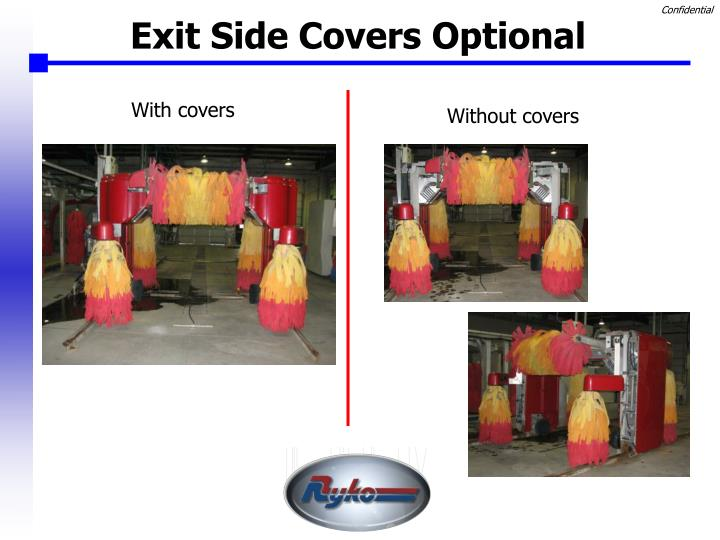 Exit Side Covers Optional