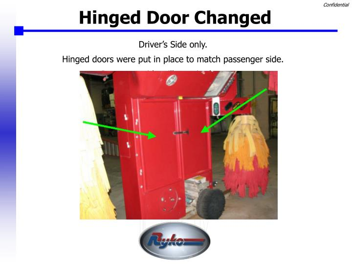 Hinged Door Changed
