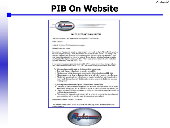 PIB On Website