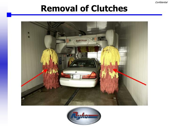 Removal of Clutches