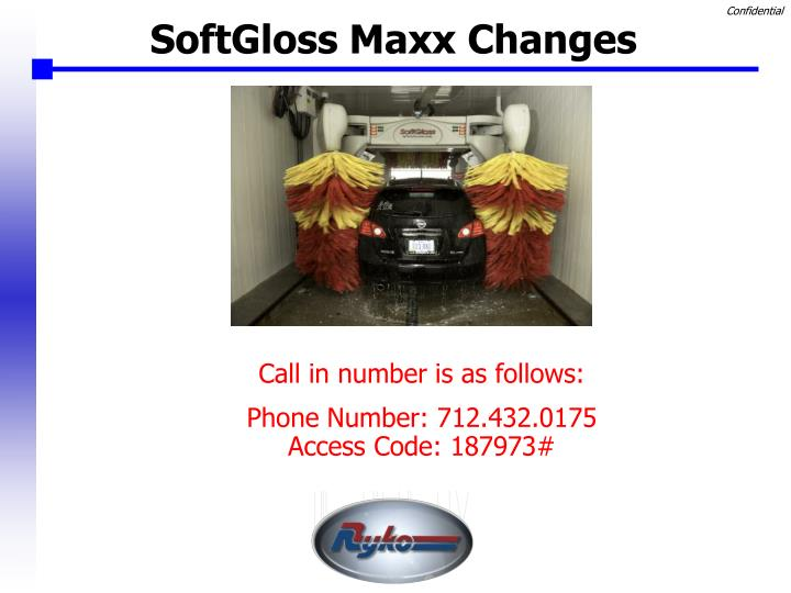 Softgloss maxx changes