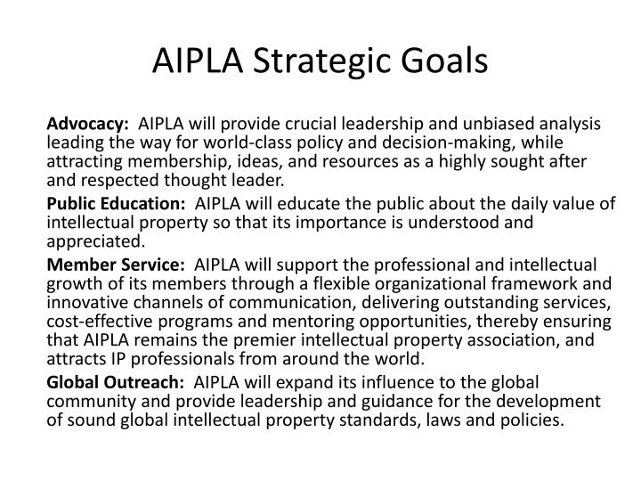 AIPLA Strategic Goals