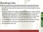 breaking links