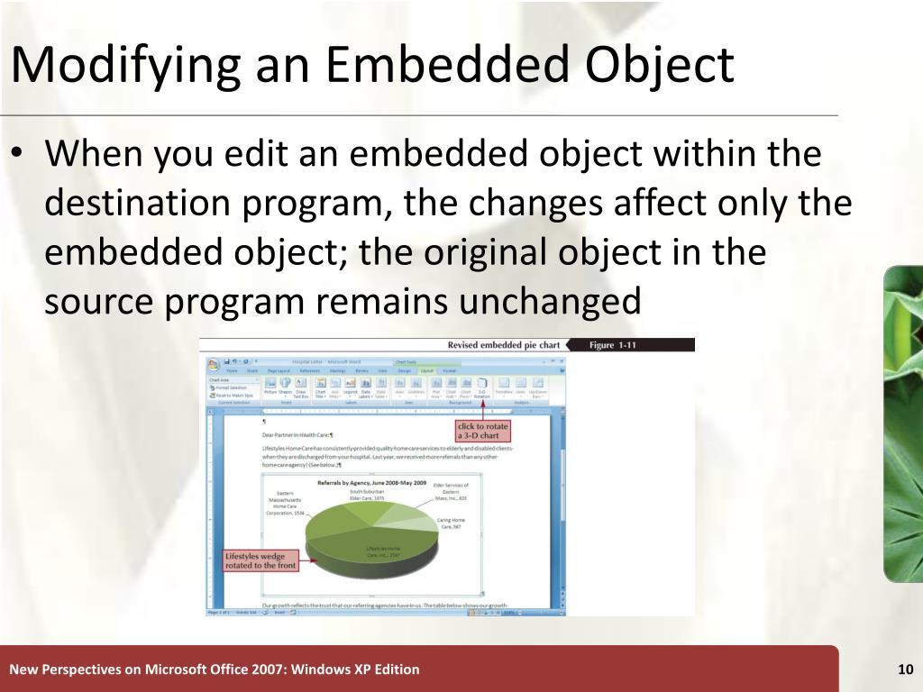 Modifying an Embedded Object