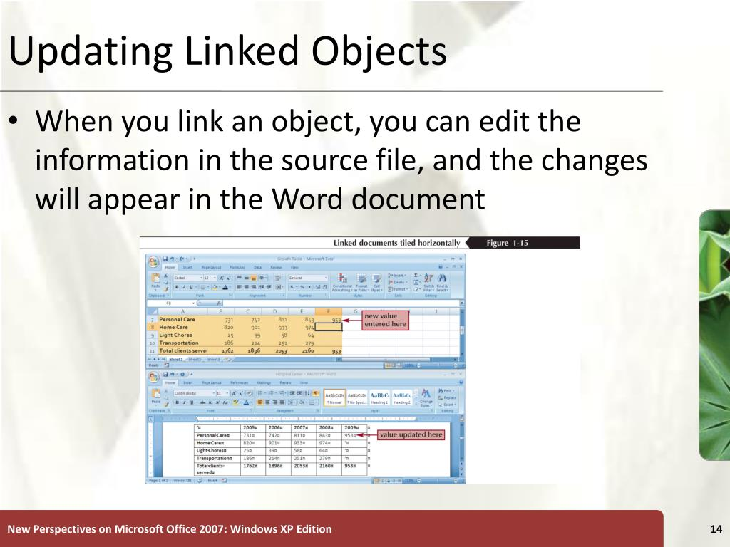 Updating Linked Objects