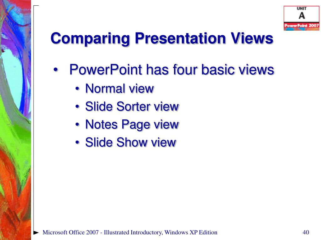 Comparing Presentation Views