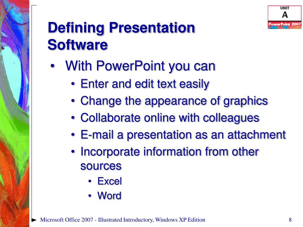 Defining Presentation