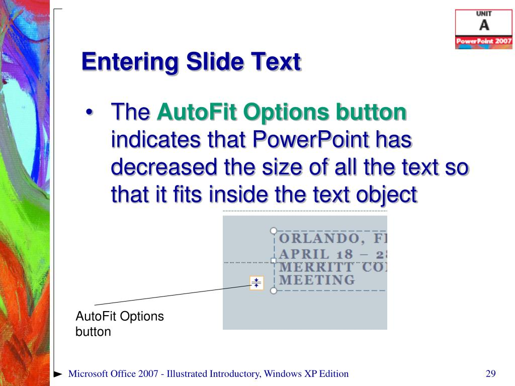 Entering Slide Text