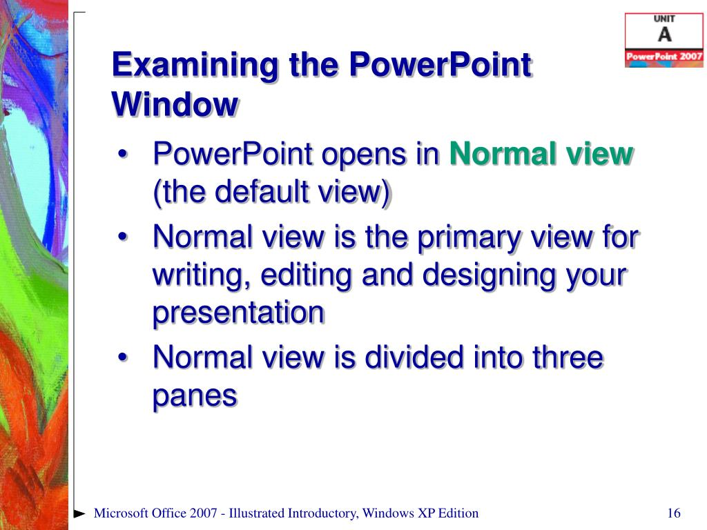 Examining the PowerPoint Window
