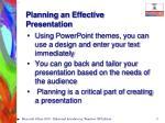 planning an effective presentation