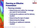planning an effective presentation10