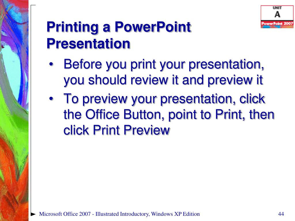 Printing a PowerPoint Presentation