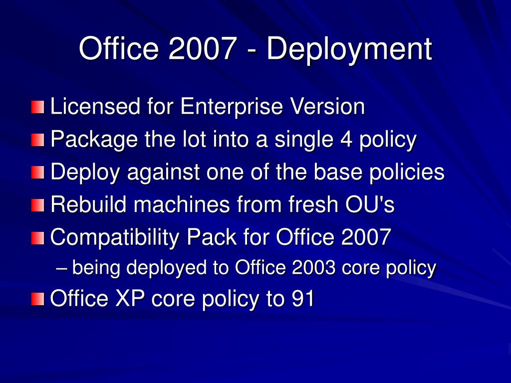 Office 2007 - Deployment