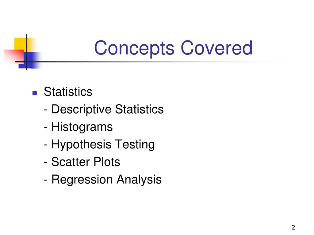 Concepts Covered
