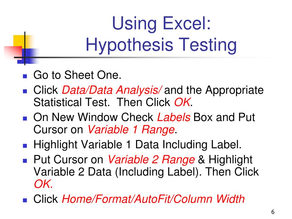 Using Excel: