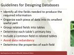guidelines for designing databases