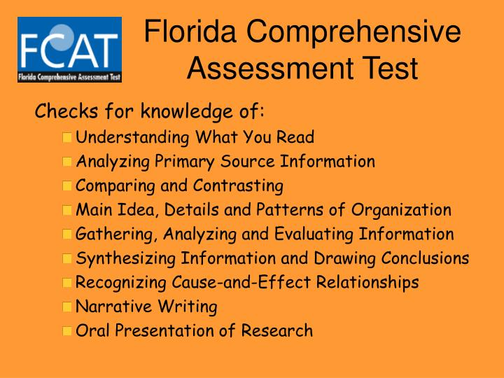 Florida comprehensive assessment test