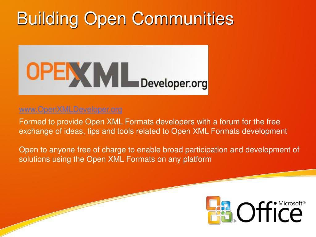 Building Open Communities