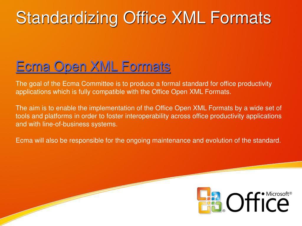 Ecma Open XML Formats