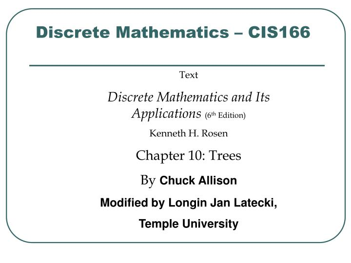 Discrete mathematics cis166