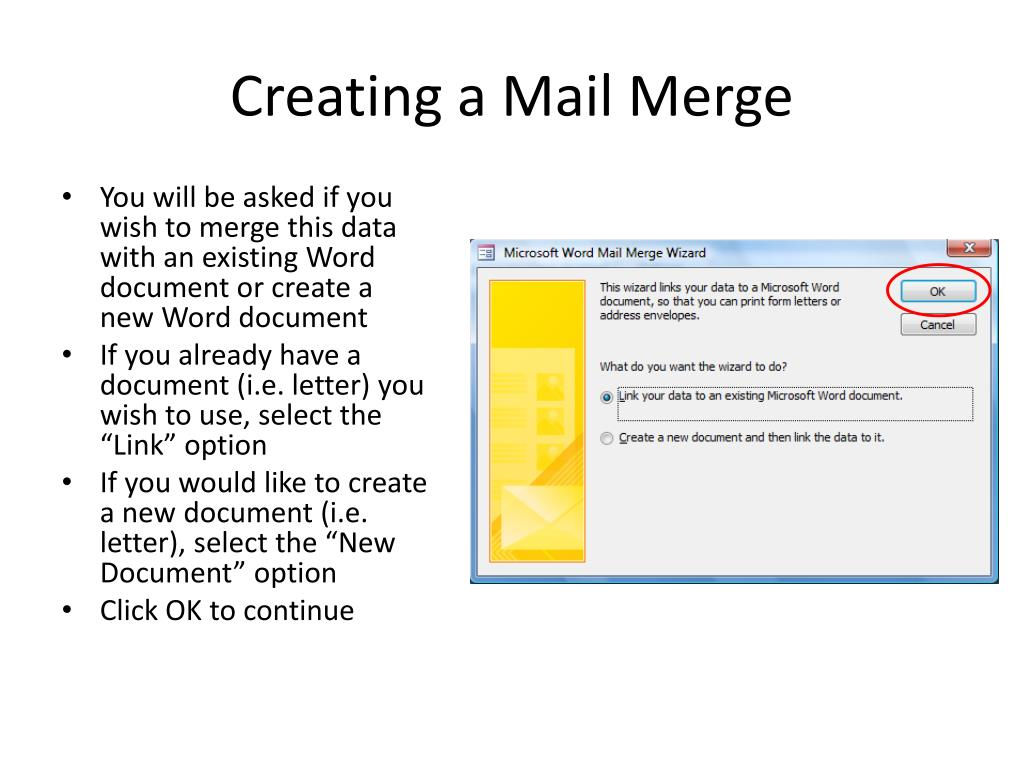 Creating a Mail Merge
