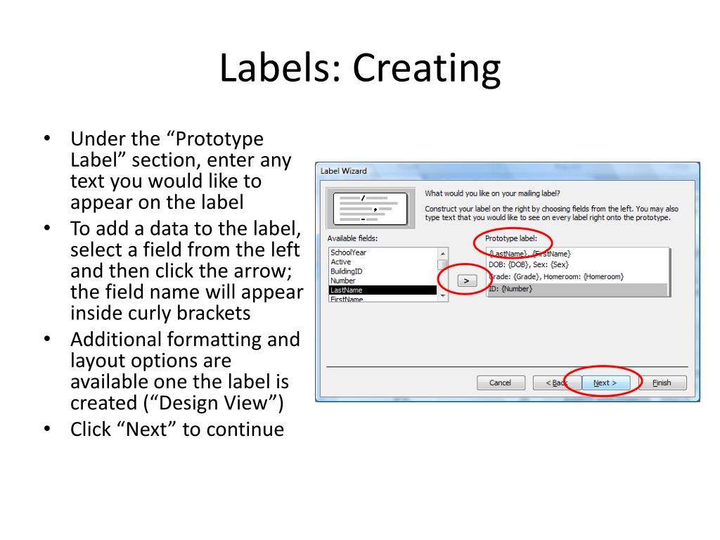 Labels: Creating