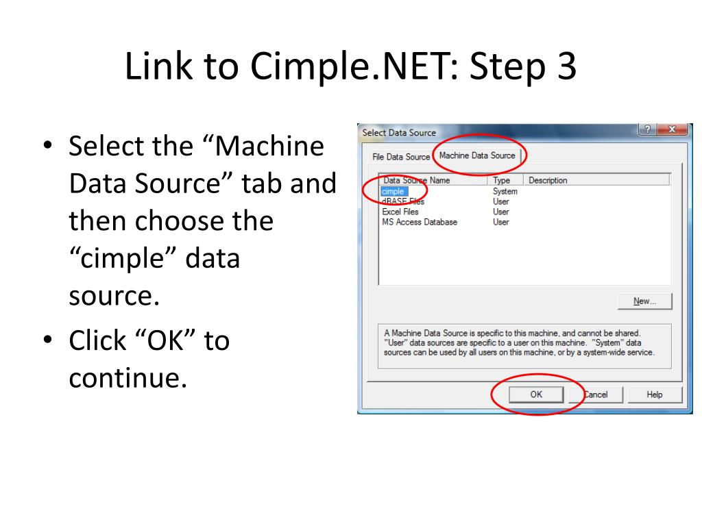 Link to Cimple.NET: Step 3