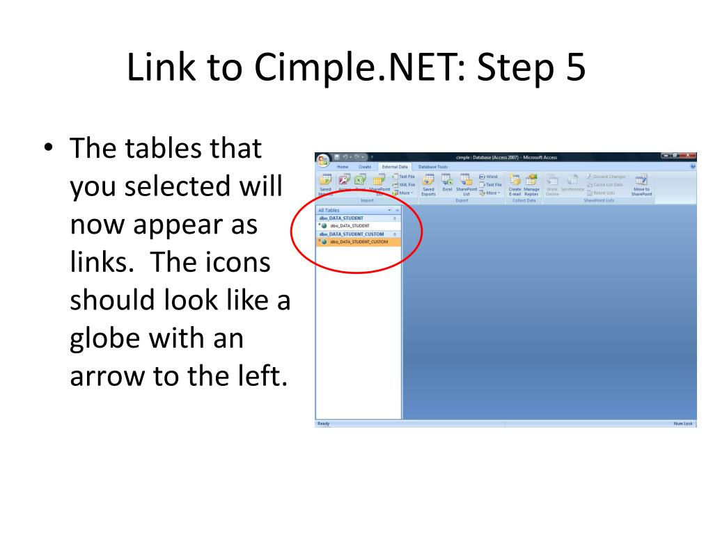 Link to Cimple.NET: Step 5