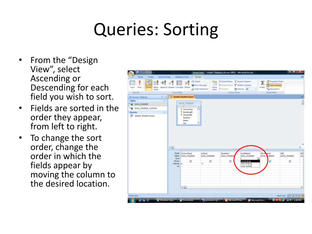 Queries: Sorting