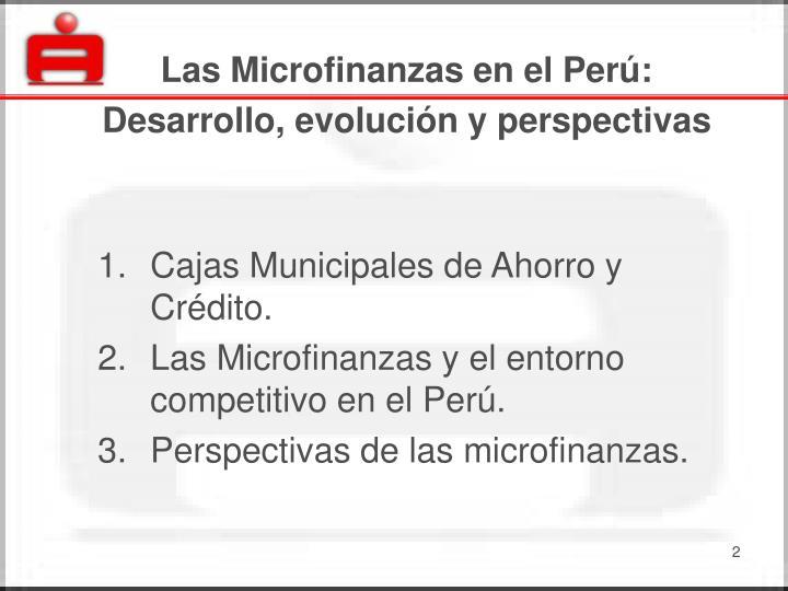 Las Microfinanzas en el Perú: